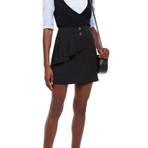 SANDRO Paris Janne ruffled stretch-twill skirt